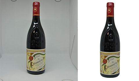 détourage bouteille vin