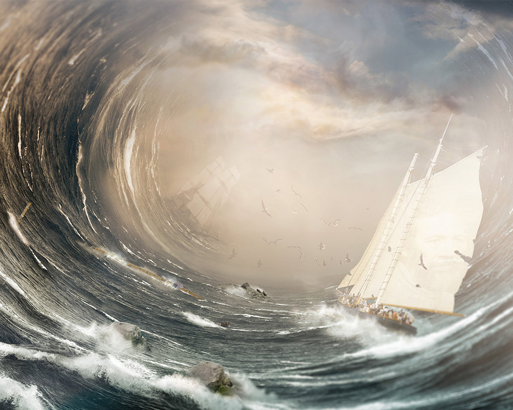 photomontage ocean